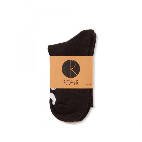 Polar Happy Sad Socks (Black)