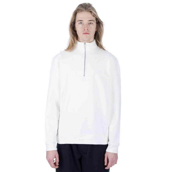 Polar Heavyweight Zip Neck Sweatshirt (Ivory White)
