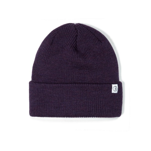 Polar Merino Wool Beanie (Dark Purple)