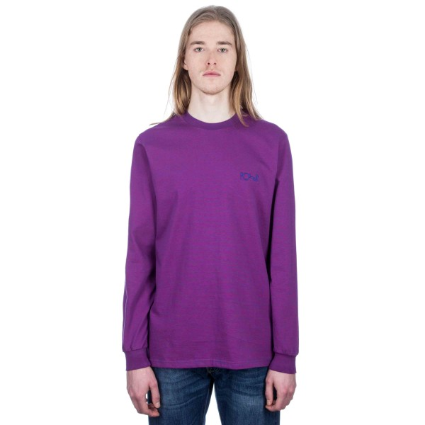 Polar Micro Stripe Long Sleeve T-Shirt (Blue/Fuschia Pink)