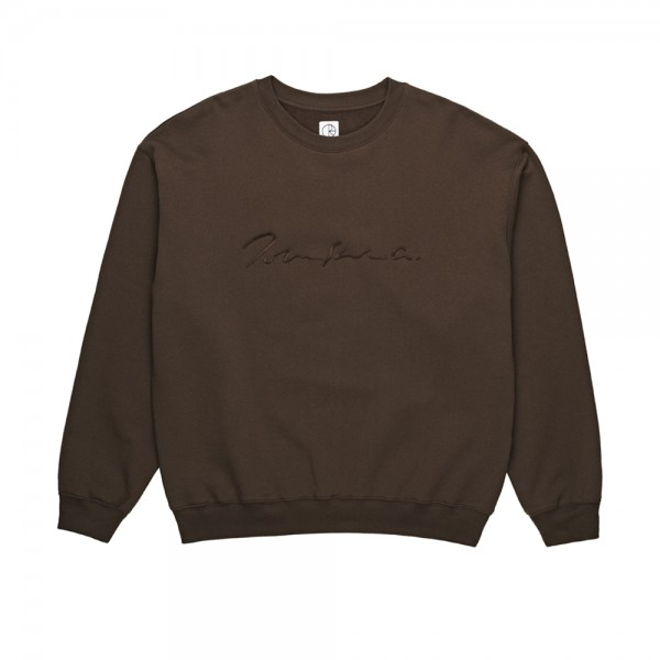 Polar Signature Crew Neck Sweatshirt (Brown)
