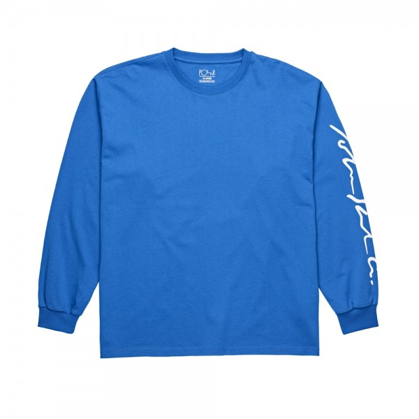 Polar Signature Long Sleeve T-Shirt (80's Blue)