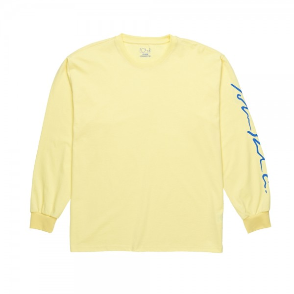 Polar Signature Long Sleeve T-Shirt (Light Yellow)