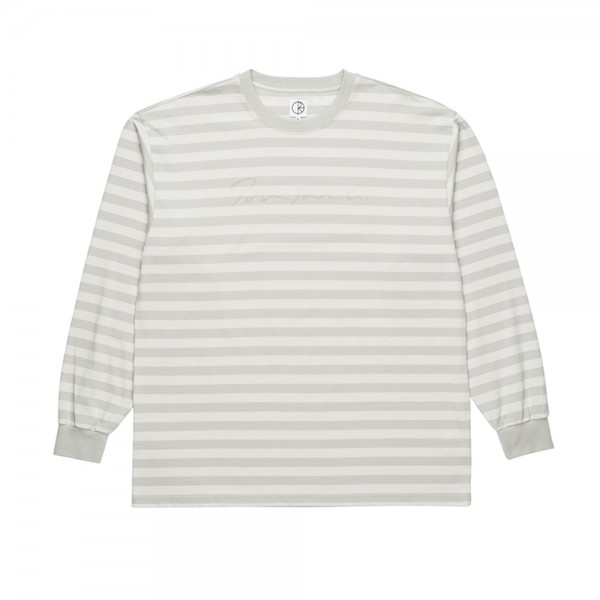 Polar Signature Striped Long Sleeve T-Shirt (Grey)