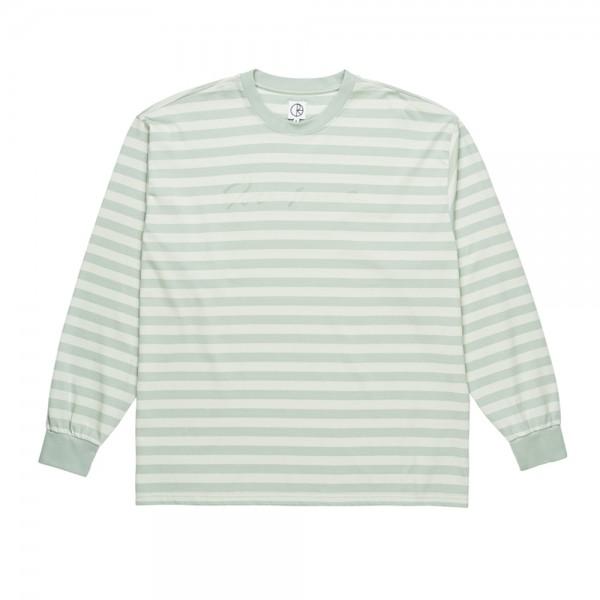 Polar Signature Striped Long Sleeve T-Shirt (Stone Blue)