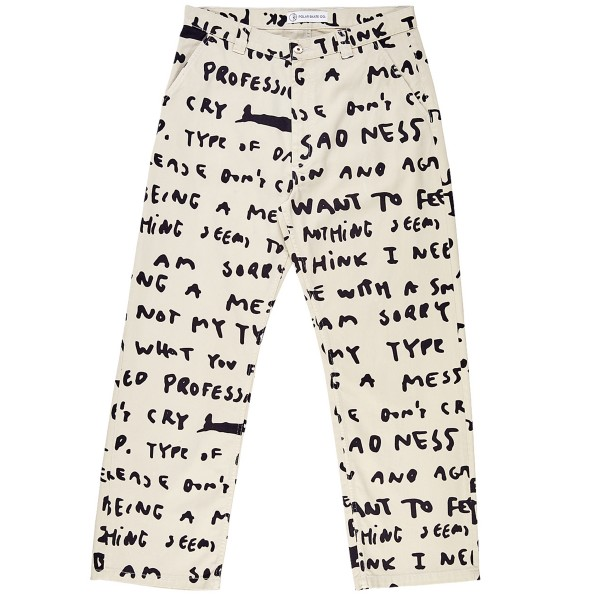 Polar Skate Co. 40's Pants Sad Notes (Ivory)
