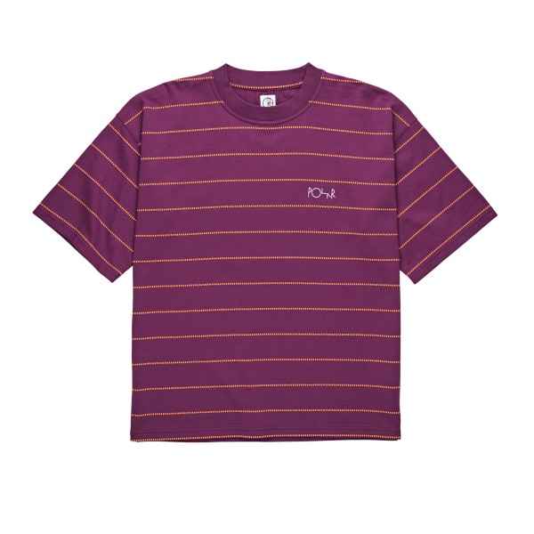 Polar Skate Co. Checkered Surf T-Shirt (Wine Red)