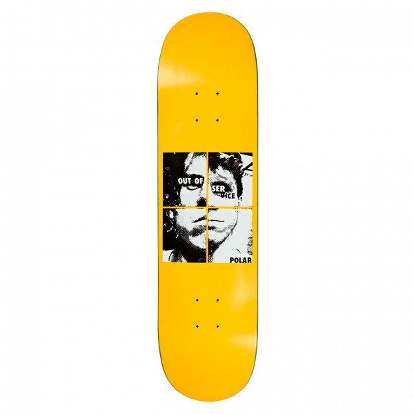 "Polar Skate Co. Dane Brady Out Of Service Skateboard Deck 8.0"" (Yellow)"