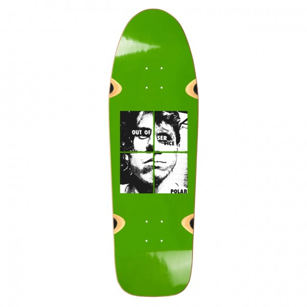 Polar Skate Co. Dane Brady Out Of Service Skateboard Deck DANE1 Shape (Green)