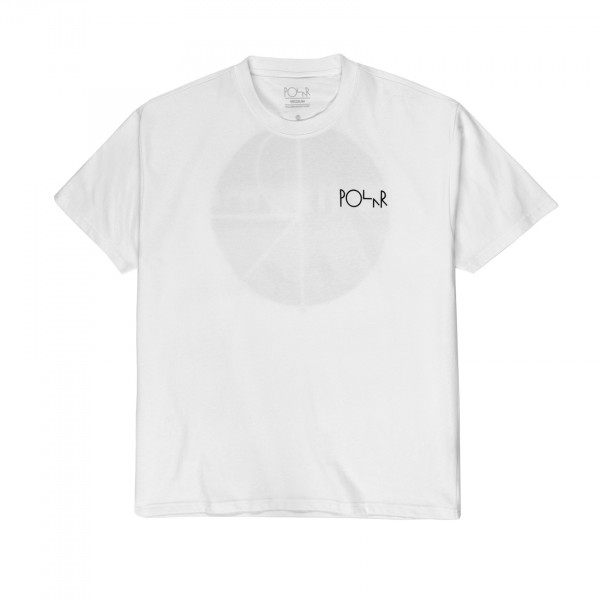 Polar Skate Co. Happy Sad Fill Logo T-Shirt (White)
