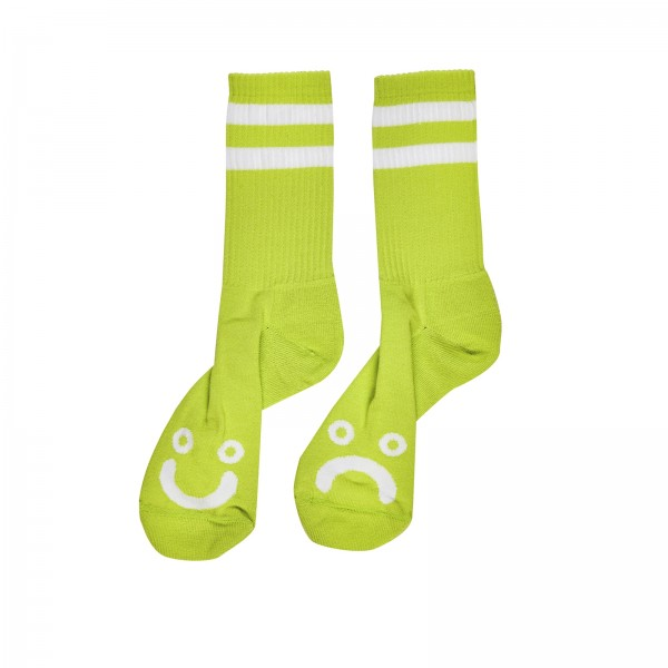 Polar Skate Co. Happy Sad Socks (Lime)