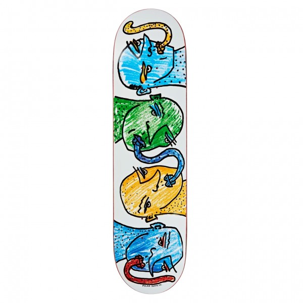 "Polar Skate Co. Kissing Heads Skateboard Deck 8.125"" (White)"