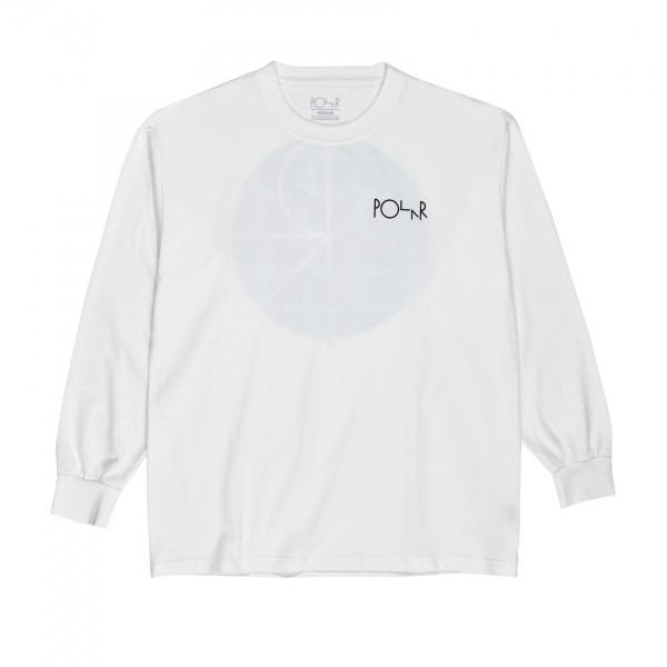 Polar Skate Co. Klez Fill Logo Long Sleeve T-Shirt (White)