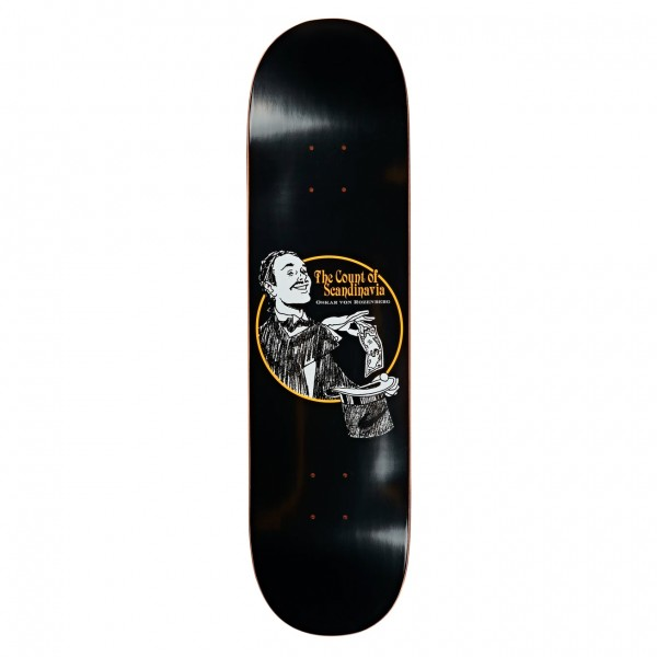 "Polar Skate Co. Oskar Rozenberg The Count Skateboard Deck 7.875"" (Black)"
