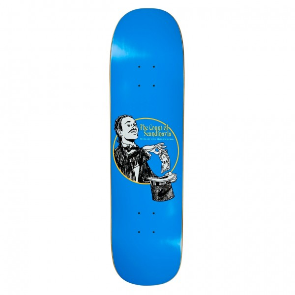 Polar Skate Co. Oskar Rozenberg The Count Skateboard Deck Arigato Shape (Blue)