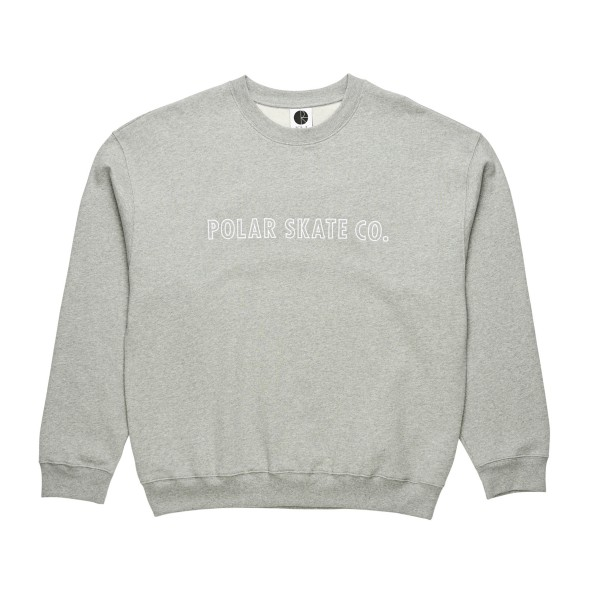 Polar Skate Co. Outline Crew Neck Sweatshirt (Heather Grey)