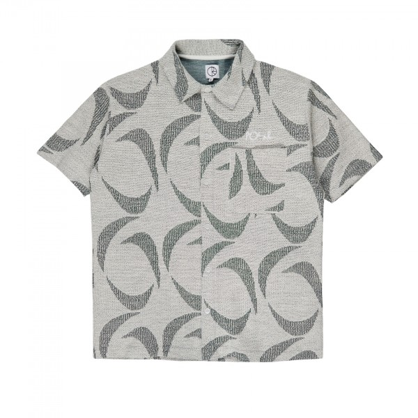 Polar Skate Co. Patterned Shirt (Dark Green/Black)