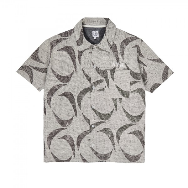 Polar Skate Co. Patterned Shirt (Ivory/Black)