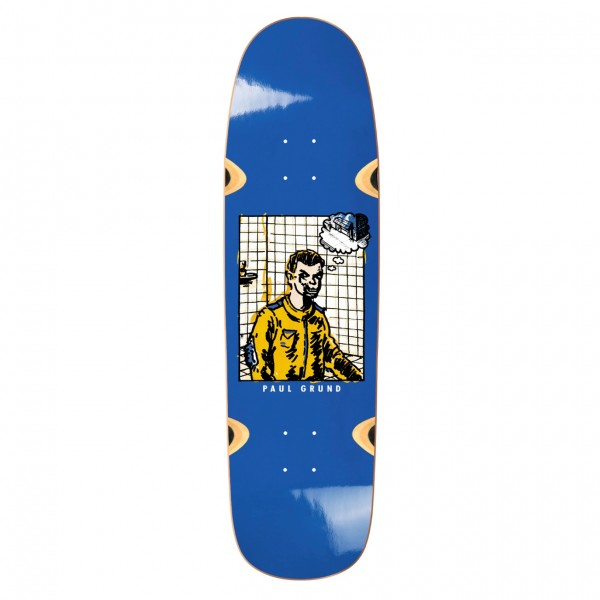 "Polar Skate Co. Paul Grund Medusa Skateboard Deck 8.38"" (Blue)"