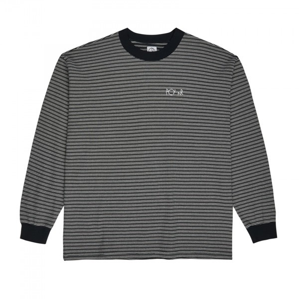 Polar Skate Co. Shin Long Sleeve Waffle T-Shirt (Black)