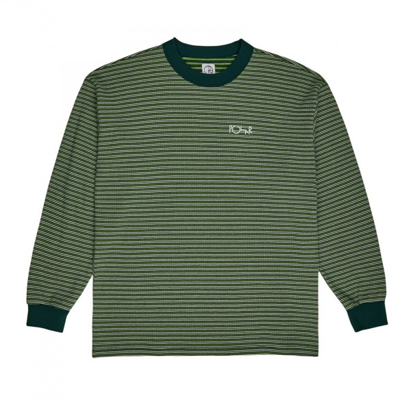 Polar Skate Co. Shin Long Sleeve Waffle T-Shirt (Dark Green)