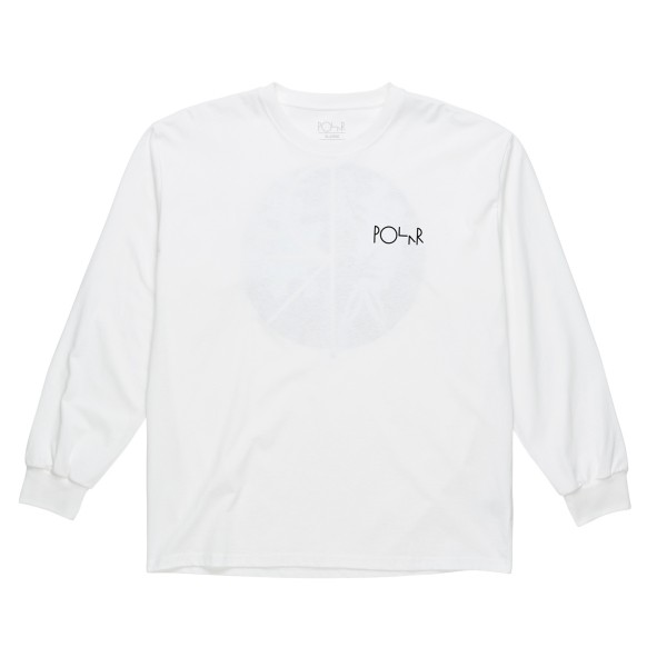 Polar Skate Co. Skeleton Fill Logo Long Sleeve T-Shirt (White)