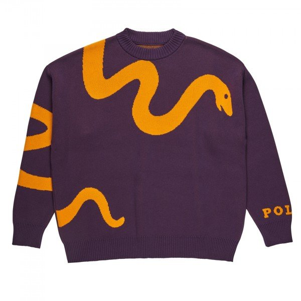 Polar Skate Co. Snake Knit Sweater (Prune/Orange)