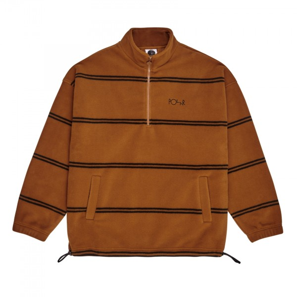 Polar Skate Co. Stripe Fleece Pullover 2.0 (Caramel)