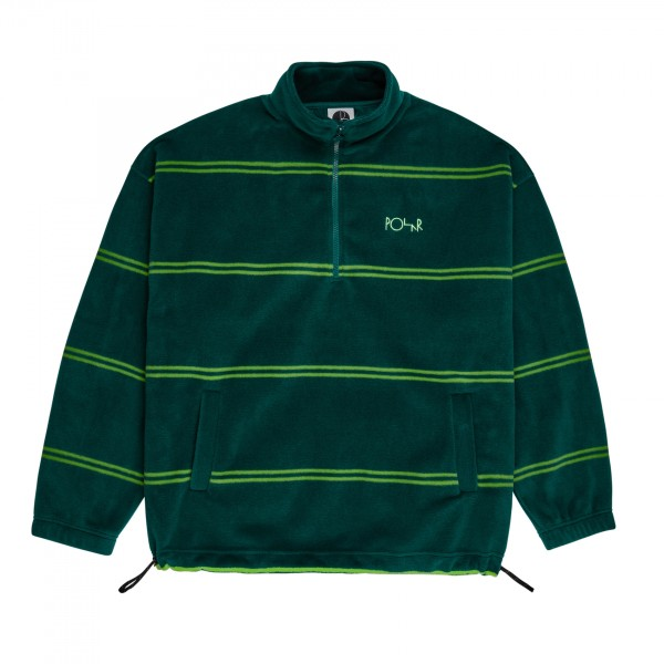 Polar Skate Co. Stripe Fleece Pullover 2.0 (Dark Green)