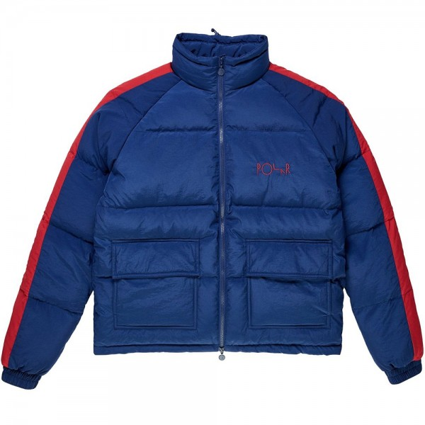 Polar Skate Co. Stripe Puffer (Navy/Red)