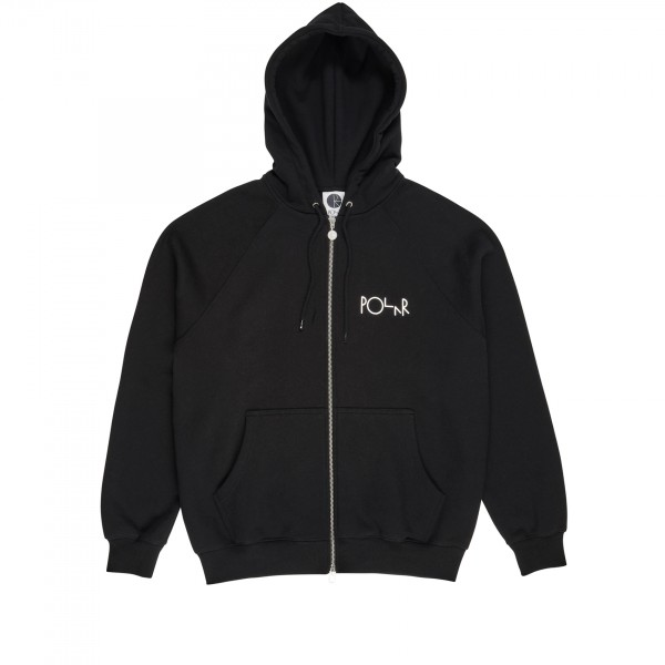 Polar Skate Co. Stroke Logo Zip Hooded Sweatshirt (Black)
