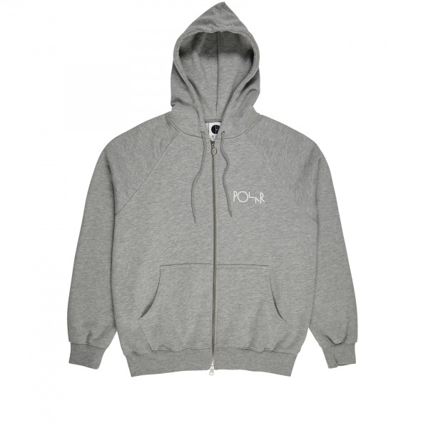 Polar Skate Co. Stroke Logo Zip Hooded Sweatshirt (Heather Grey)