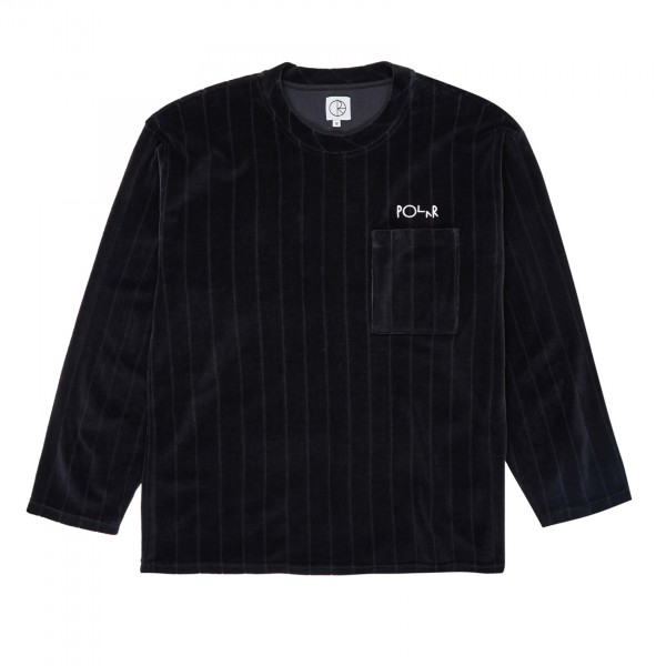 Polar Skate Co. Velour Pullover Sweatshirt (Black)