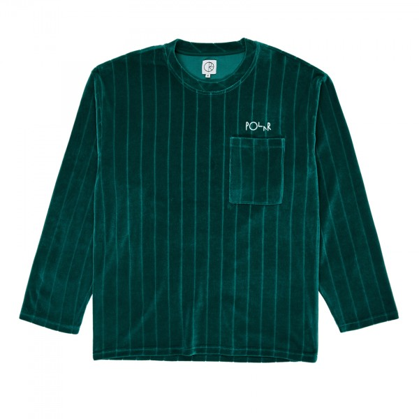 Polar Skate Co. Velour Pullover Sweatshirt (Dark Green)