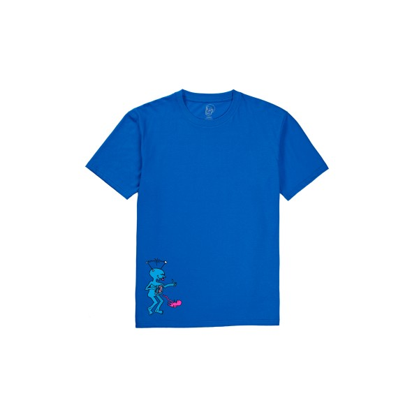 Polar Skate Co. x Dear Skating by Ron Chatman TV Kid T-Shirt (Royal Blue)