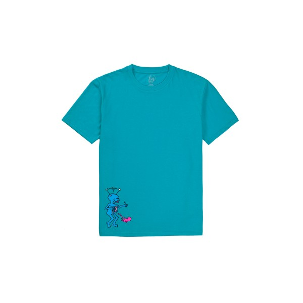 Polar Skate Co. x Dear Skating by Ron Chatman TV Kid T-Shirt (Turquoise)