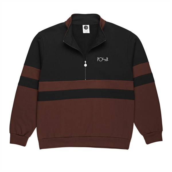 Polar Skate Co. Block Zip Sweatshirt (Black/Brown)