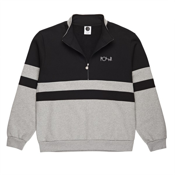 Polar Skate Co. Block Zip Sweatshirt (Black/Grey)