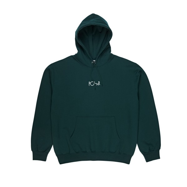 Polar Skate Co. Stroke Logo Pullover Hooded Sweatshirt (Dark Teal)