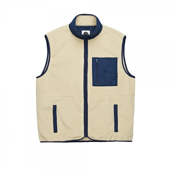 Polar Stenström Fleece Vest (Sand/Navy)