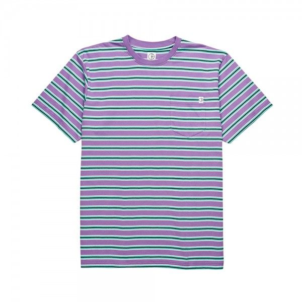 Polar Striped Pocket T-Shirt (Violet/Mint)