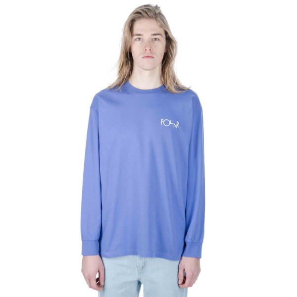 Polar Stroke Logo Long Sleeve T-Shirt (Baja Blue)