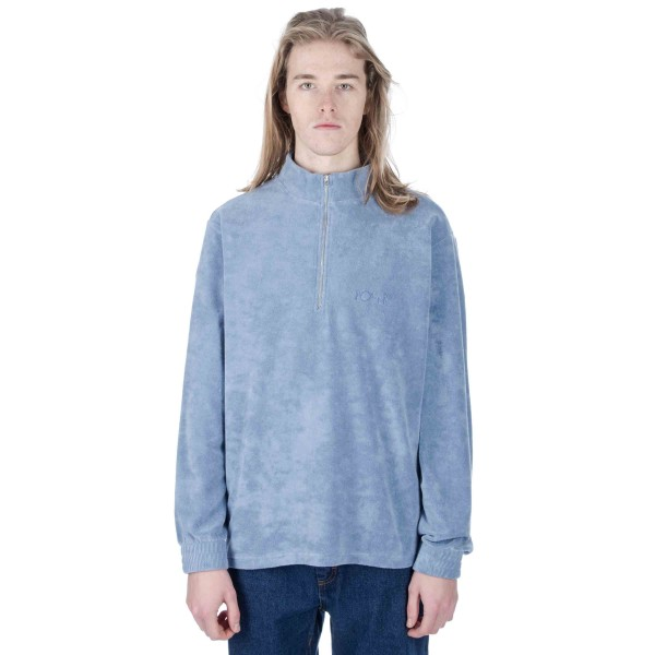 Polar Terry Half Zip Sweatshirt (Dusty Indigo)