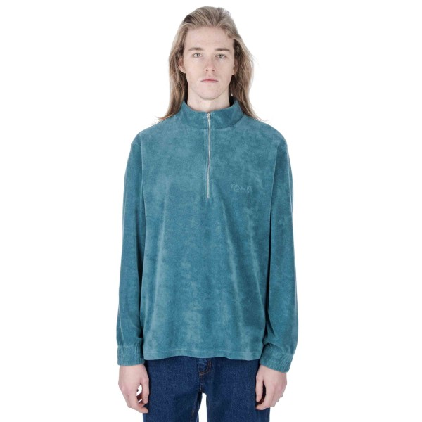 Polar Terry Half Zip Sweatshirt (Teal)