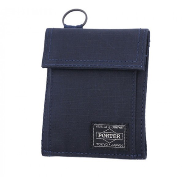 Porter Type A Cube Wallet (Navy)
