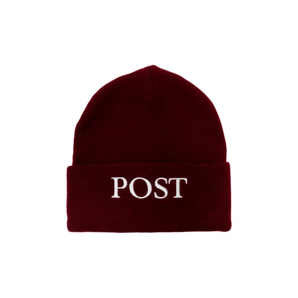 Post Details Big Logo Beanie (Burgundy)
