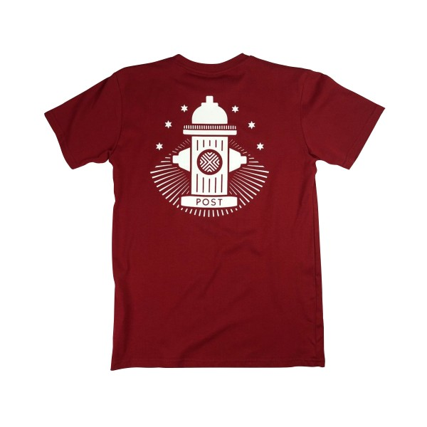 Post Details No Bills Hydrant T-Shirt (Burgundy)