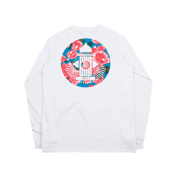 Post Details Roses Long Sleeve T-Shirt (White)