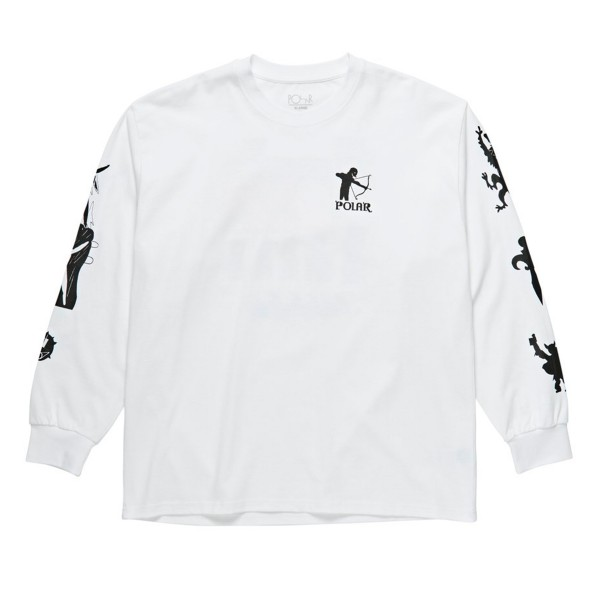 Polar Skate Co. Gnarhammer Long Sleeve T-Shirt (White)