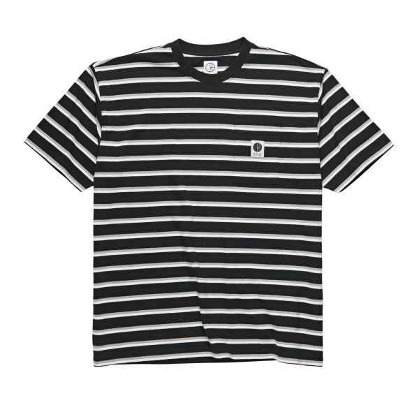 Polar Skate Co. Stripe Pocket T-Shirt (Black)